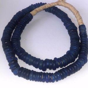 Antiques Venetian Dutch Dogon Cobalt Blue Glass